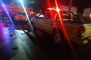 Colisão entre ônibus e carro deixa mulher ferida na ERS-239 em Parobé