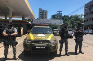 Equipes do Batalhão de Choque de Porto Alegre reforçam policiamento em Taquara e Parobé